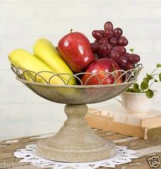 New Metal Pedestal Compote Bowl Fruit Vegetables Candy Centerpiece Home Decor