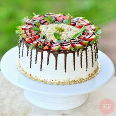 from – Previously given as a recipe for fruit cake … – Lace Wedding Cake Ideas Best Cake Recipes, Pie Recipes, Black Walnut Cake, Strawberry Pie, Cake Decorating Tutorials, Food Cakes, Holiday Desserts, Fondant Cakes, Beautiful Cakes