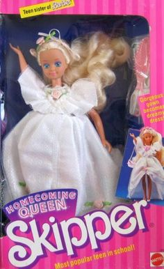 Teen Sister of Barbie Homecoming Queen SKIPPER Doll, Most Popular Teen in School! (1988), http://www.amazon.com/dp/B001DYSYG4/ref=cm_sw_r_pi_awdm_Olefub1750493