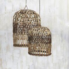 Handwoven Organic Open Weave Lightshade
