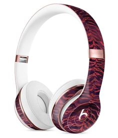 Wine Watercolor Tiger Pattern Full-Body Skin Kit for the Beats by Dre Solo 3 Wireless Headphones