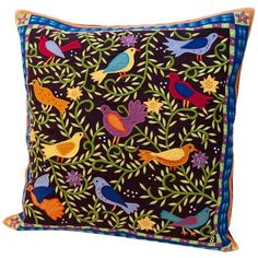 I pinned this Susan Sargent Sparrows Pillow in Dark from the Sun Room event at Joss and Main!