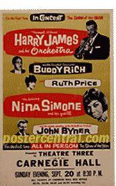 Harry James concert poster
