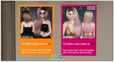 Second Life Lucky Letters Sintiklia Hair