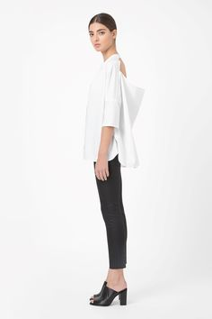 COS image 1 of Shirt with open back in White