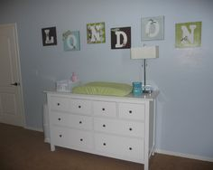 Baby Nursery Design, Different letter idea