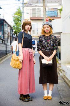 Harajuku Duo in Vintage Fashion w/ Items from Linetta, Crisp, Lowrys Farm & Dr. Martens