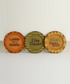 Thanksgiving Decorative Plate Set by Adams & Co. on #zulily