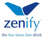 "Zenify, ""the live stress free drink."""