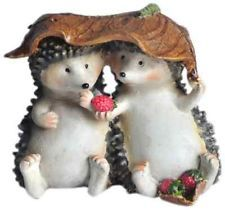 NEW Top Collection Enchanted Story Fairy Garden Hedgehogs Sharing Outdoor Statue