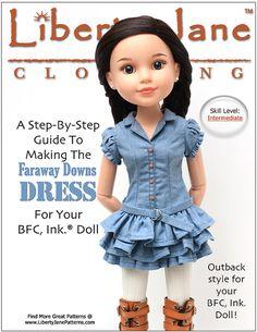 Liberty Jane Faraway Downs Dress  Doll by PixieFairePatterns, $5.99