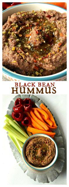 Black Bean Hummus for healthy Cinco de Mayo dinner
