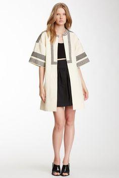 Jill Stuart Wilma Silk & Linen Woven Coat on HauteLook