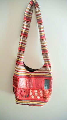 Red Muticolor Boho Hippie Cross Body  Shoulder bags by FashNerds