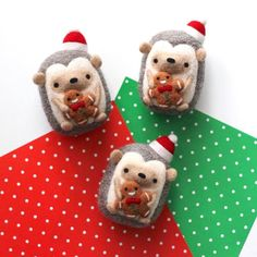 Hedgies nom nom nomming on gingerbread men. Christmas cookies are one of my favourite parts of Christmas. What's your favourite Christmas cookie to eat or make? If you have any go-to recipes let me know! . . . . #wildwhimsywoolies #hedgehog #instahedgie #hedgielove #hedgies #gingerbreadman #nomnoms #cookies #tinyfood #minifood #sweettreat #christmascookies #christmassy #deckthehalls #christmasmood #modernmaker #tistheseason #abmholidayspirit #abmlifeissweet #kawaiiart #arttoys #toyart…
