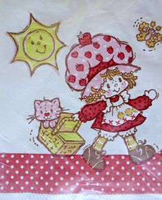 Vintage 80's Strawberry Shortcake Doll Cat Paper Napkins Decoupage Party Crafts #AmericanGreetings