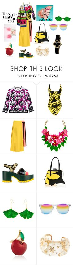 """""""177  mix-match,ecology,casual style"""" by gangqin ❤ liked on Polyvore featuring Victoria, Victoria Beckham, Moschino, Marni, Aurélie Bidermann, Oliver Peoples, Erickson Beamon, Van Cleef & Arpels, Chanel, Yves Saint Laurent and Ciel"""