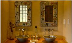 The wash-room of our farm accommodation