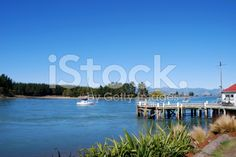Mapua Wharf, Nelson, NZ royalty-free stock photo Abel Tasman National Park, New Zealand Travel, Turquoise Water, Travel And Tourism, Image Now, Small Towns, Things To Do, National Parks, Scenery