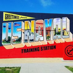 #san diego #usnavy #pointloma #mural #postcard #greetingstour #pointlomalocals #sandiegoconnection #sdlocals #sandiegolocals - posted by LaLe  https://www.instagram.com/thedemondiary64. See more post on Point Loma at http://pointlomalocals.com