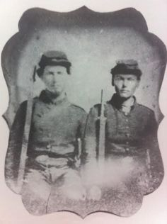 Brothers Marcus G. and Lafayette L. Milan of Company C, 5th Tennessee Infantry. Marcus was discharged on July 10, 1862 for disability. Lafayette was captured during the battle of Nashville, December 16, 1864.