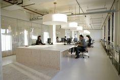 Oversized lighting for open work space