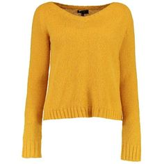 Boohoo Poppy Crop Knit Jumper | Boohoo (90 SEK) ❤ liked on Polyvore featuring tops, sweaters, crop top, yellow sweater, knit sweater, nordic sweater and chunky knit sweater