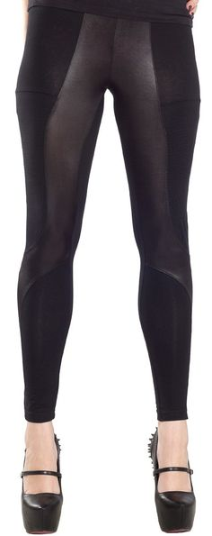 JONI LEGGINGS BLK Give your leggings collection some edge with the Joni leggings! These stretchy black leggings have impeccable fit for all sizes, shiny panel details & are perfect for layering. $44.00 #leggings