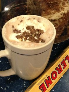 Toblerone Hot Chocolate recipe... (I'll use coffee instead)