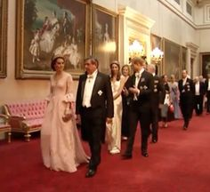 Kate chooses Marchesa gown for State Banquet with Spanish royals · Kate Middleton Style Blog