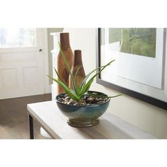 12 in. Dia Assorted Color Ceramic Caspian Bowl Planter-CR10775-12C - The Home Depot