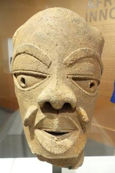 The African Iron Age Nok Art Sculptural Tradition is 2500 Years Old: Terracotta Head of Man, Nok Culture 550-50 BC. Kaduna, Nigeria
