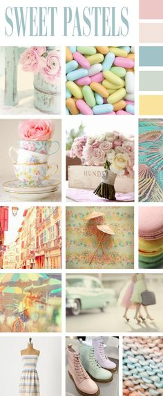 sweet pastels, will enjoy this in her room before she becomes a teenager and wants garish colours, I hope not black!