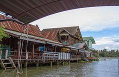 Maisons flottantes dans un klong