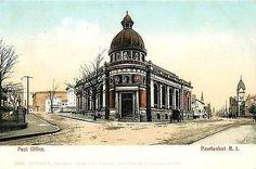 Pawtucket Rhode Island RI 1905 Post Office Downtown Antique Vintage Postcard