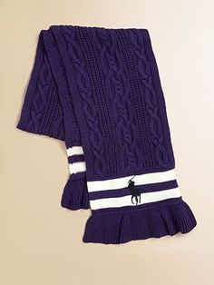 Ralph Lauren Girl's Cable Scarf