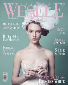 Biżuteria YES w ślubnej kampanii DECOLOVE Princess White na okładce Magazynu WESELE.   > www.YES.pl/pierscionki