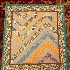 Megism's: Baby Boy Chevron quilt