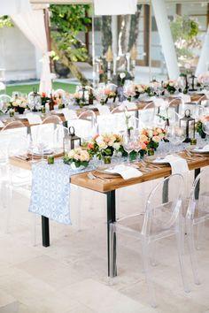 Gorgeous al-fresco tables: http://www.stylemepretty.com/destination-weddings/2015/03/02/romantic-and-colorful-bali-wedding/ | Photography: Angga Permana - http://anggapermana.com/