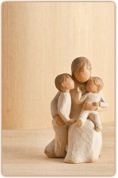 Mother with 2 children. This figure means so much to me.