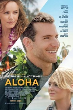Aloha starring Rachel McAdams, Bradley Cooper and Emma Stone In this film, Emma Stone's character was actually meant to be an Asian-American character. 2015 Movies, Hd Movies, Movies To Watch, Movies Online, Movies And Tv Shows, Movie Tv, Teen Movies, Alec Baldwin, John Krasinski
