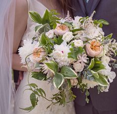 These lush bridal bouquets are absolutely exquisite!