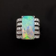 Gorgeous opal burning with fire