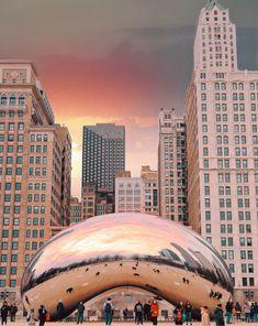 Chicago Vacation, Chicago Travel, Chicago City, Chicago Skyline, Chicago Illinois, Chicago Photography, Sunset Photography, City Aesthetic, Travel Aesthetic