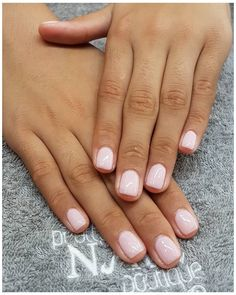 Dip Nail Colors, Nail Polish Colors, Opi Gel Nails, Manicure And Pedicure, Chic Nails, Trendy Nails, Milky Nails, Gel French Manicure, Natural Gel Nails