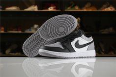 1b9a3f779d92ab New Air Jordan 1 Low White Atmosphere-Black 553558-110 Jordan 1 Low