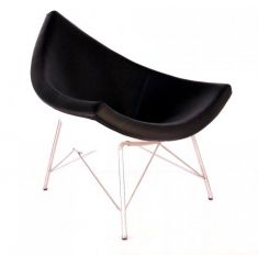 Coconut Chair - in Black Italien Leather