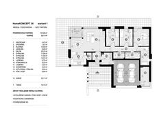 DOM.PL™ - Projekt domu CPT HomeKoncept-36 wariant 1 CE - DOM CP5-04 - gotowy koszt budowy Floor Plans, Houses, Projects, Floor Plan Drawing