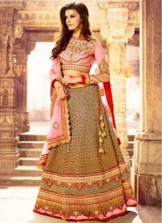 Beautiful Grey Lehenga With Lace Work:-http://www.saree.com/lehenga-choli