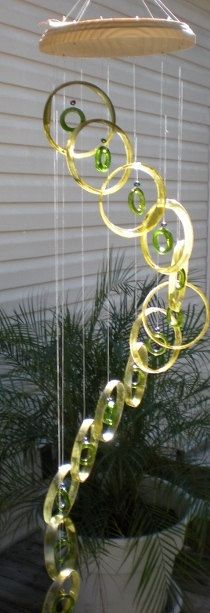 RECYCLING WINE BOTTLES windchimes wind chime by Liftingupspirits, $42.00  www.etsy.com/shop/liftingupspirits
